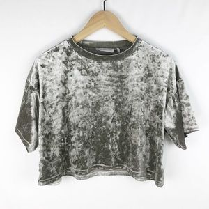Urban Outfitters Velvet Crop Top size S